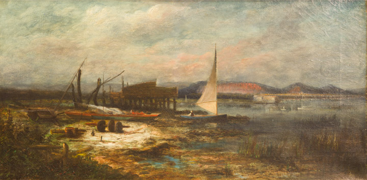 E.T. Baker - New Haven Harbor and East Rock
