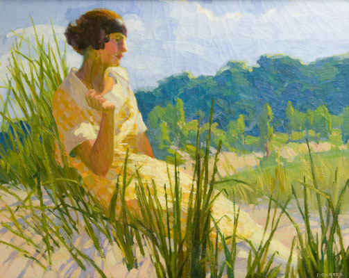 J Carter - Woman in Landscape