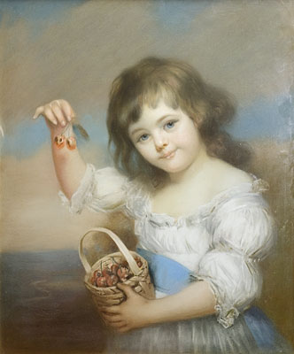 James Wells Champney - Child Holding Cherries