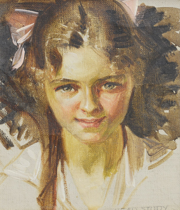 J.C. Leyendecker - Portrait of a Young Girl