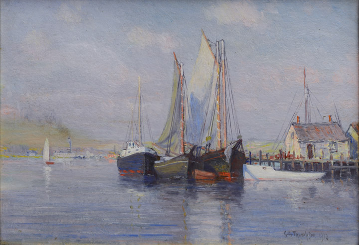 G.A. Thompson - Harbor Scene