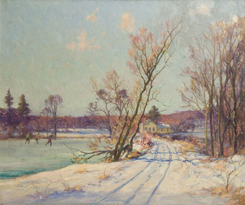 Charles Vermoskie - Skating in a Landscape