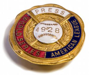1928 New York Yankees Press Pin