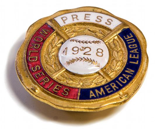 1928 New York Yankees Press Pin