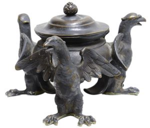 Three Bird Inkwell Piece