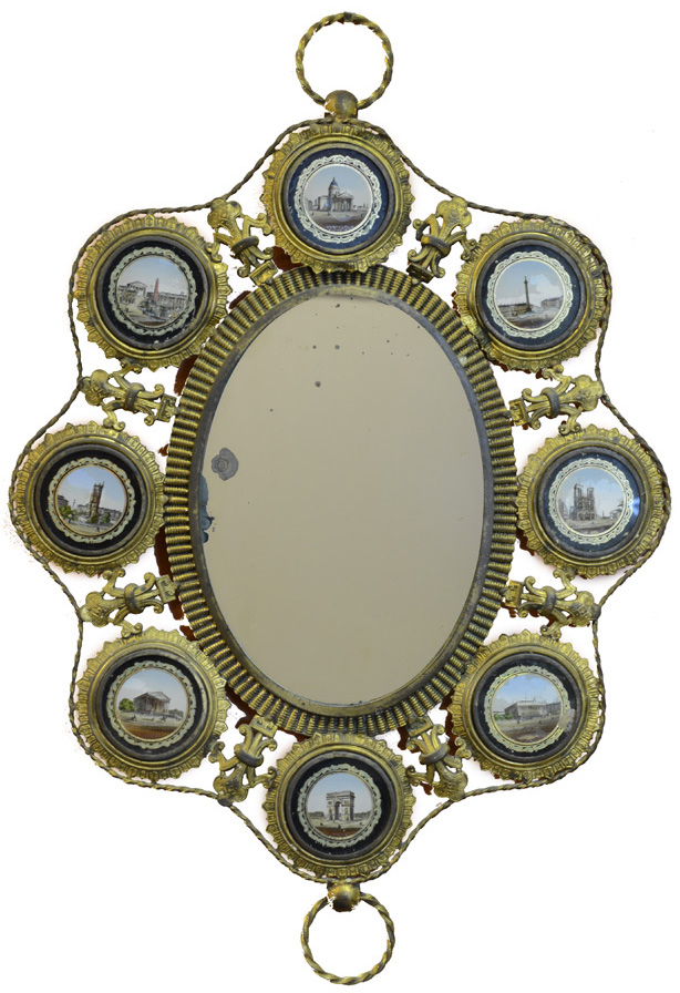 Italian Mirror with Reverse Painting