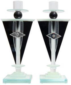 Art Deco Glass Candlesticks
