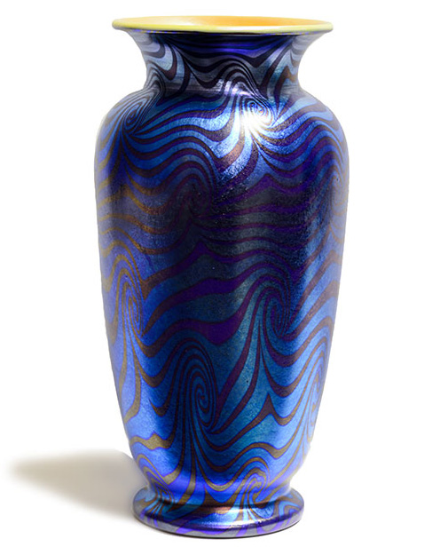 Durand Art Glass Vase Don Barese Fine Art Antiques