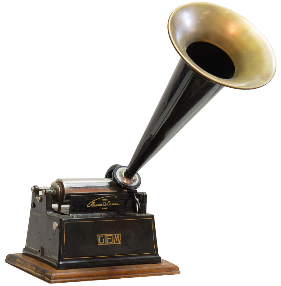 Edison Phonograph with Horn