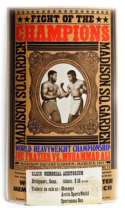Joe Frazier vs Muhammad Ali Poster