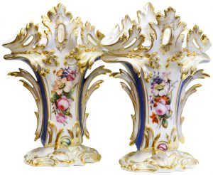 French Porcelain Vases (pair)