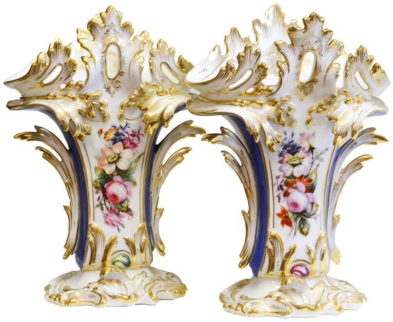 French Porcelain Vases (pair)