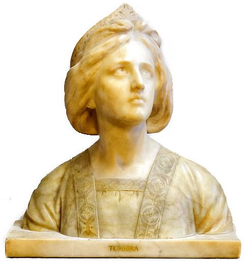 Italian Teodora Alabaster Bust