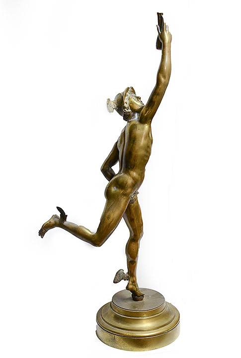 Mercury Bronze Figure