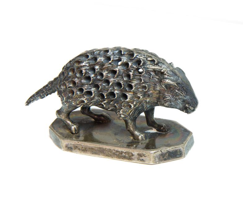 Silver Porcupine Toothpick Holder