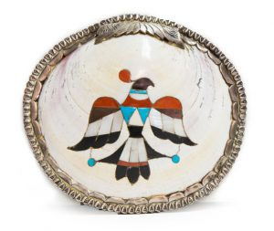 Sterling Indian Chief Shell Pin