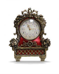 Tiffany Enameled Carriage Clock