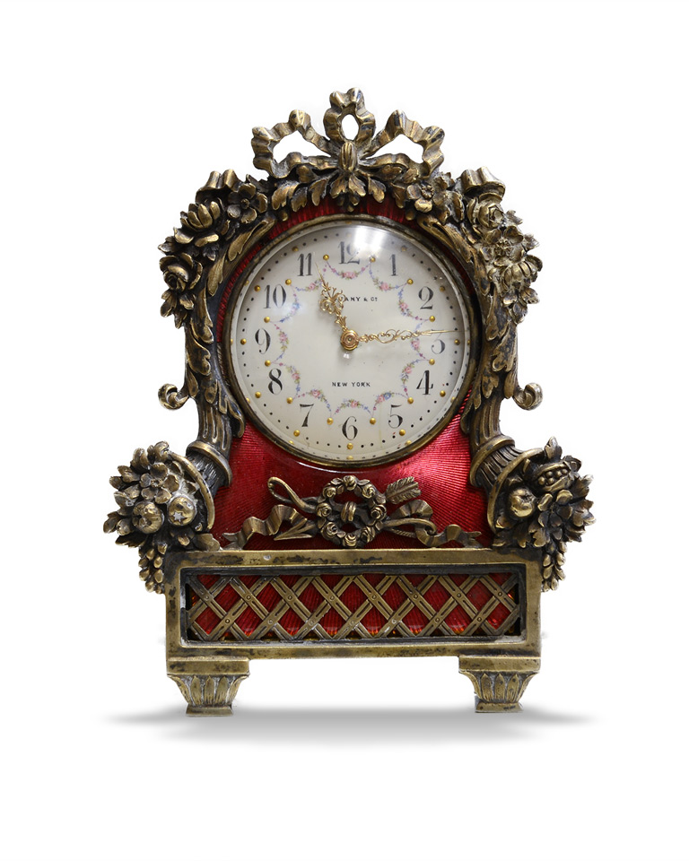Tiffany Enameled Carriage Clock