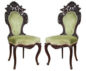 Victorian Chairs Pair (Belter)