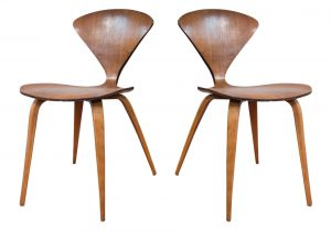 Cherner Side Chairs Pair (Plycraft)