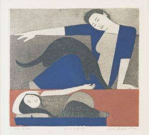 Will Barnet - Blue Robe