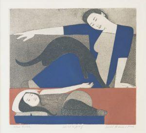 Will Barnet - Blue Robe