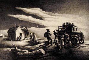 Thomas Hart Benton - Departure of the Joads