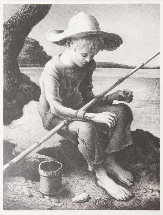 Thomas Hart Benton - Boy Fishing