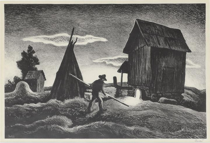 Thomas Hart Benton - Night Firing