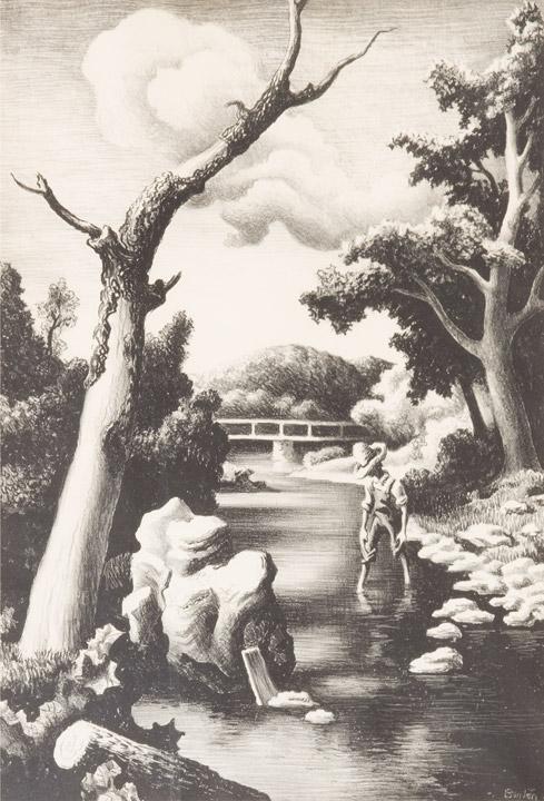 Thomas Hart Benton - Shallow Creek