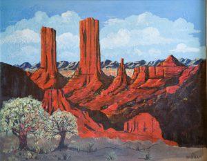 Emil Bisttram - New Mexico Landscape