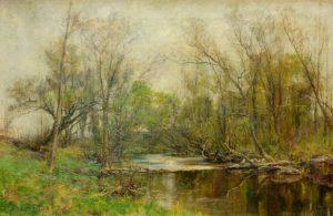 Olive Parker Black - River Landscape