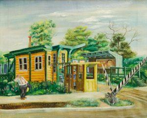 Aaron Bohrod - North Shore Station