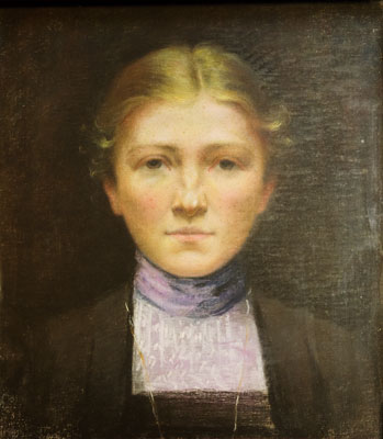 Boston School - Portrait of a Young Woman