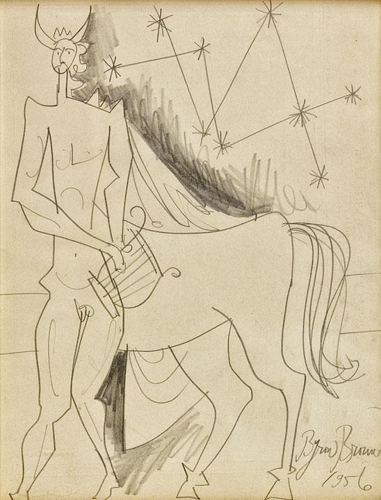 Byron Browne - Centaur with Lyre