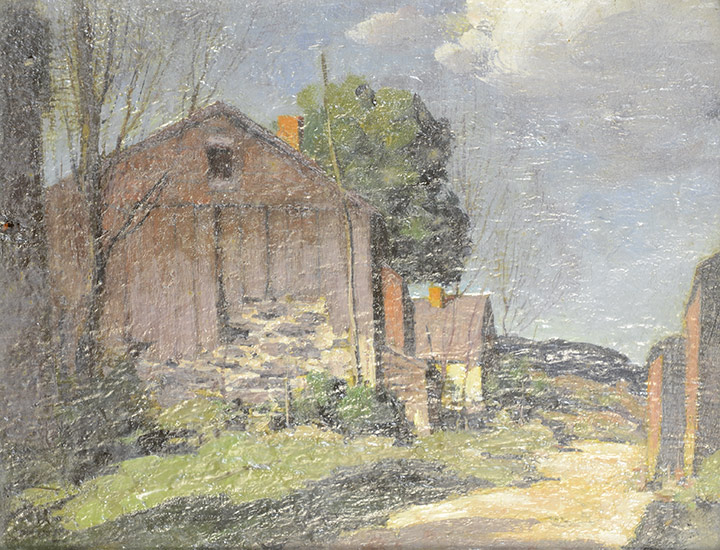George Bruestle - Barn in Old Lyme