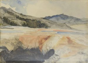 Howard Russell Butler - Limestone Shelf Yellowstone