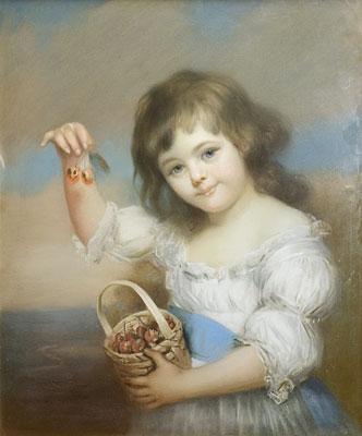 James Wells Champney - Child Holding Cherries