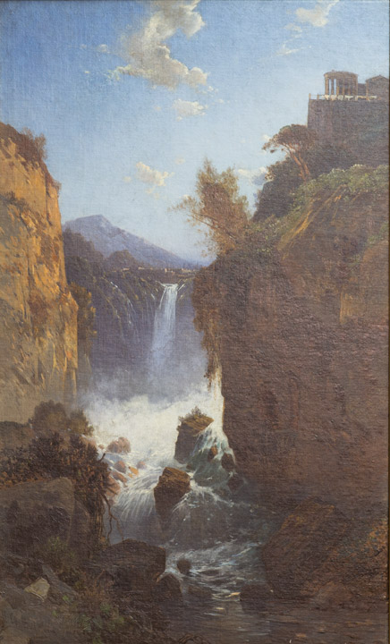 Hermann Corrodi - Italian Waterfall