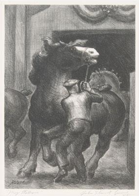 John Steuart Curry - Prize Stallions