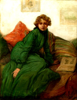 Warren Davis - Woman in Green