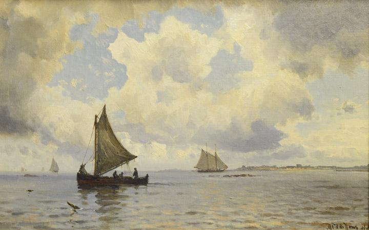 Mauritz De Haas - Harbor Scene