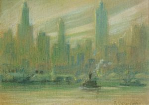 F. Usher DeVoll - Manhattan Skyline