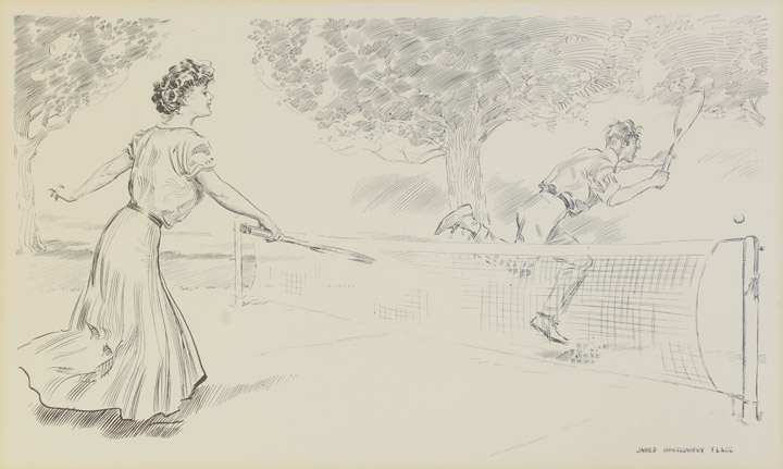 James Montgomery Flagg - Tennis Players