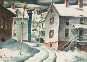 Henry Gasser - Cars in Winter
