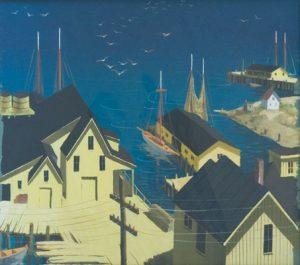 Henry Gasser - Harbor Scene