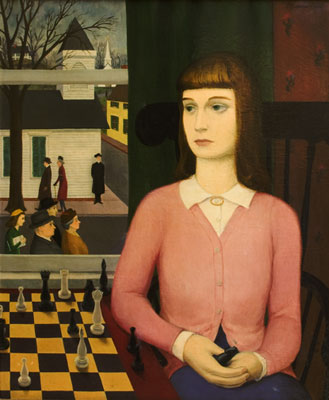 Earle Goodenow - Woman and the Chessboard