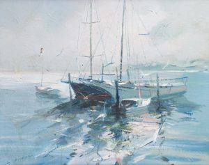 Charles C Gruppe - Sailboats