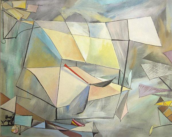 Hananiah Harari - Sky Planes Abstract