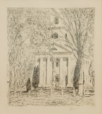 Childe Hassam - Old Lyme Church